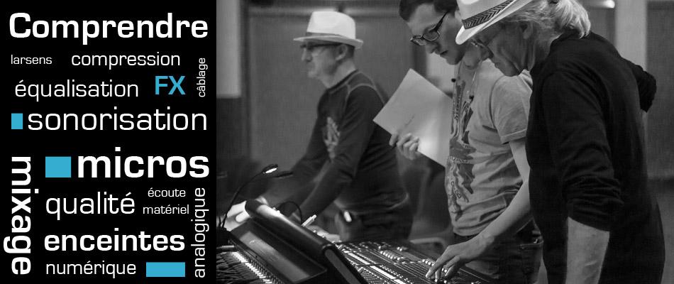 formation sonorisation, mixage, matériel son