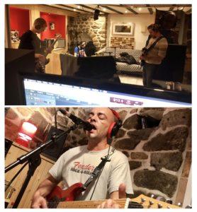 Le groupe Tricky Simone en enregistrement au studio Solu'Son